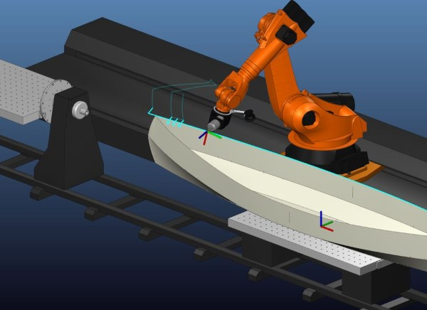 Robotmaster robot machining with linear track